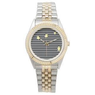 Reloj unisex de encargo de la pulsera del Dos-Tono