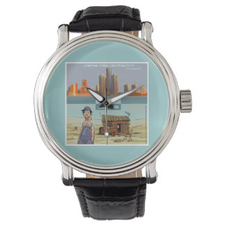 Reloj unisex divertido de Detroit Motown