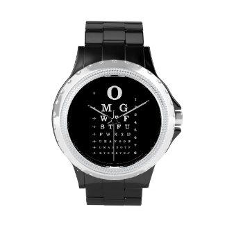 Reloj urbano de la carta de ojo del diccionario de
