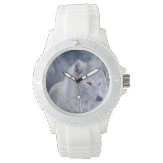 Reloj usable del arte de White Wolf