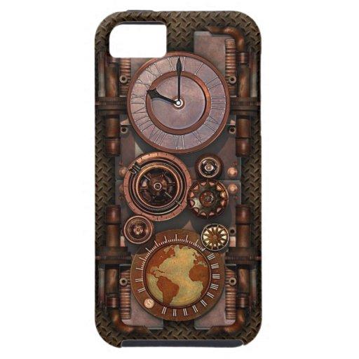 Reloj v2 de Steampunk del vintage iPhone 5 Cárcasa