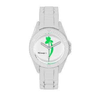 Reloj verde claro suave del iris de PRLimages
