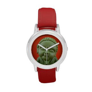 Reloj verde de Buda