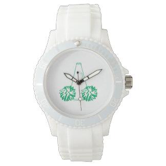 Reloj verde de la animadora