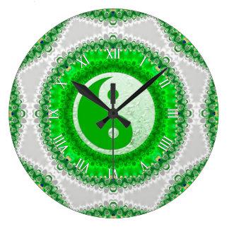 Reloj verde de la decoración del hogar del