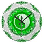 Reloj verde de la decoración del hogar del FengShu