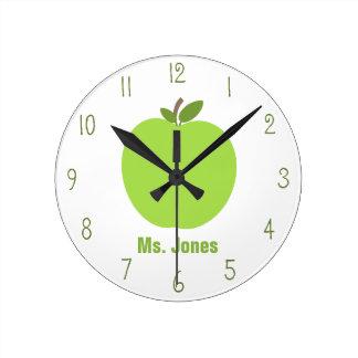 Reloj verde del profesor de Apple