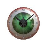 Reloj verde espeluznante de la diversión de Hallow