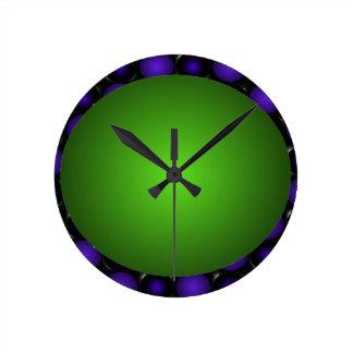 Reloj verdoso de la bola del verde del diseño del