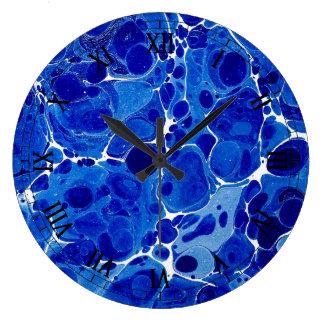 Reloj veteado azul