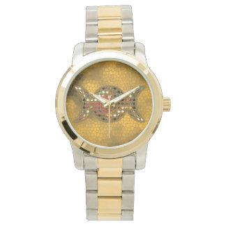 Reloj wiccan del oro triple de la diosa