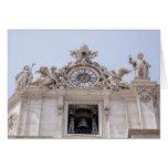 Reloj y Bell, Ciudad del Vaticano, Roma, Italia Tarjeta De Felicitación