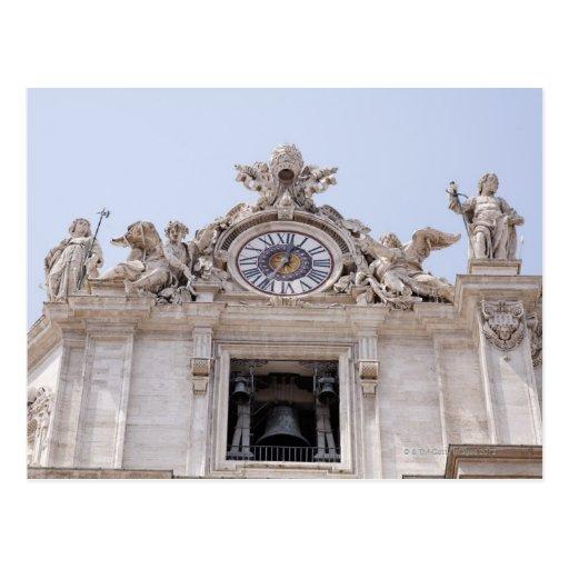 Reloj y Bell, Ciudad del Vaticano, Roma, Italia Postal