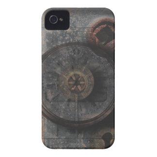 Reloj y cerradura texturizados metal sucio de iPhone 4 carcasas