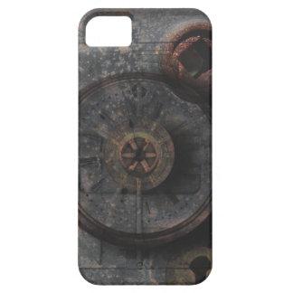 Reloj y cerradura texturizados metal sucio de iPhone 5 funda