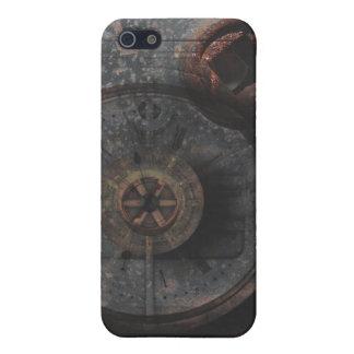 Reloj y cerradura texturizados metal sucio de Stea iPhone 5 Funda
