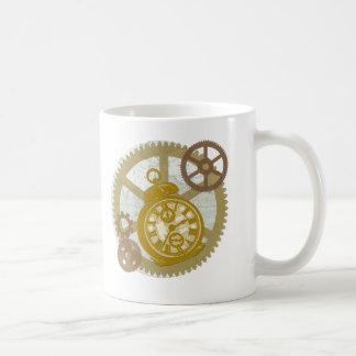 Reloj y engranajes de Steampunk Taza