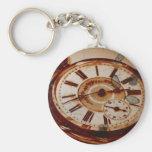 Reloj y llave de bolsillo del vintage llaveros personalizados