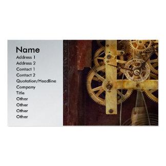 Relojero - el mecanismo tarjetas de visita