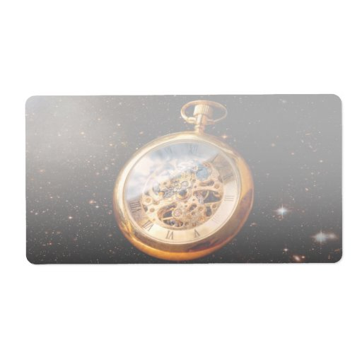 Relojero - tiempo de espacio etiquetas de envío