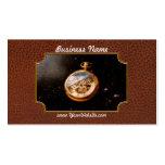 Relojero - tiempo de espacio tarjetas de visita