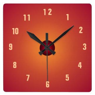 Relojes anaranjados quemados de la cocina de Clock