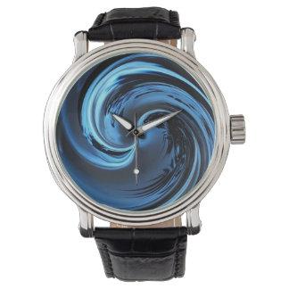 Relojes azules del extracto de la onda de la isla