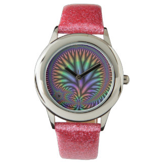 Relojes coloridos del fractal de la planta del