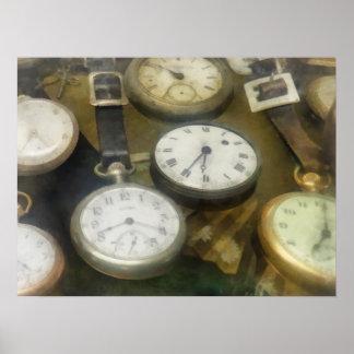 Relojes de bolsillo del vintage posters