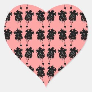 Relojes de cuco pegatina en forma de corazón