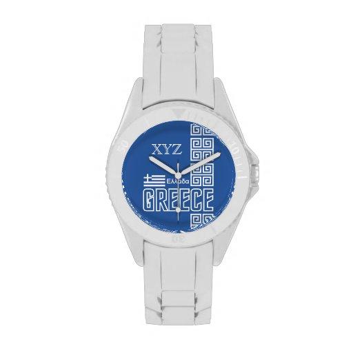 Relojes de encargo de las iniciales de Grecia