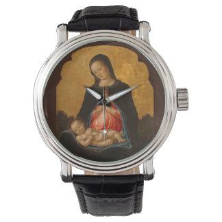 Relojes de encargo del arte de Madonna y del niño