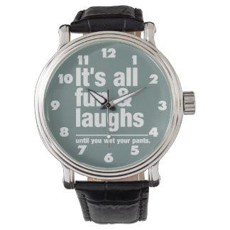 Relojes de encargo del color de la DIVERSIÓN y de
