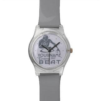 Relojes de encargo del color y del monograma de DJ