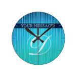 Relojes de encargo rayados azules