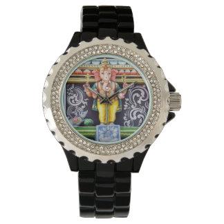 Relojes de la estatua de dios de Ganesha
