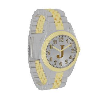 Relojes de la plata y de oro para los hombres,
