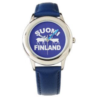 Relojes de los alces y del reno de Finlandia