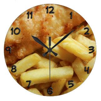 Relojes de pared de la cocina de la comida