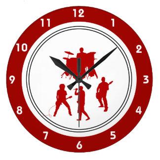 Relojes de pared de la música rock