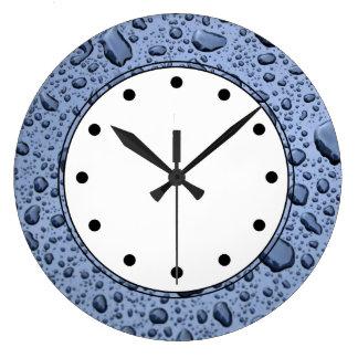 Relojes de pared de las gotas de agua