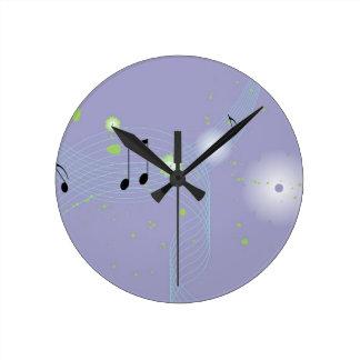 Relojes de pared de los amantes de la música