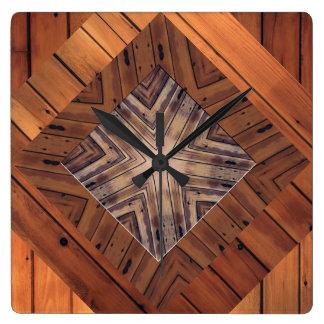 Relojes de pared de madera del cuadrado del diseño