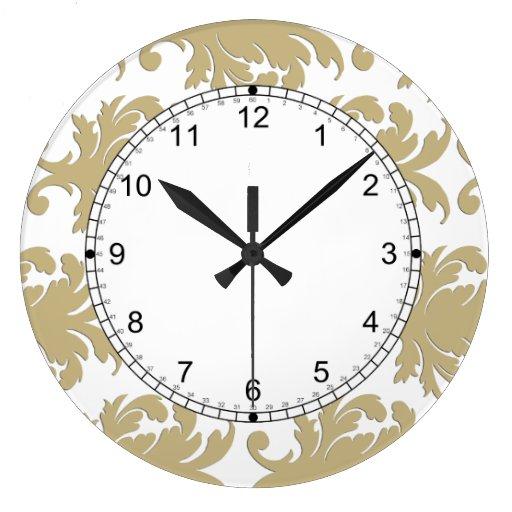 Relojes de pared del damasco