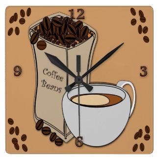 Relojes de pared del diseño de la taza de café de