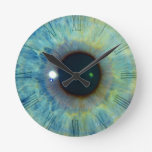 Relojes de pared del ojo azul