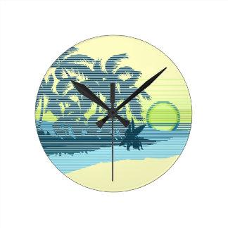 Relojes de pared hawaianos de la raya grande de la
