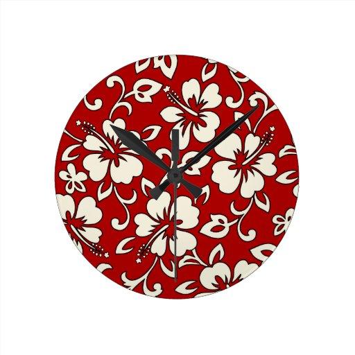 Relojes de pared hawaianos del hibisco de Malia