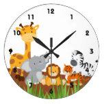 Relojes de pared lindos de los animales del bebé d
