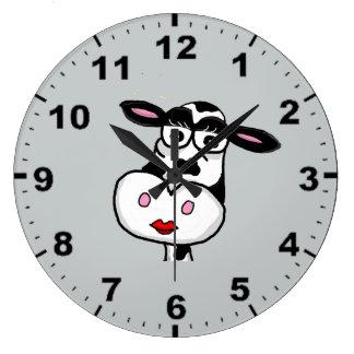 Relojes de pared lindos del diseño de la vaca